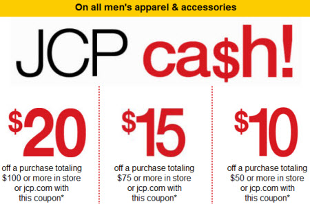 JCP cash for men item 2011