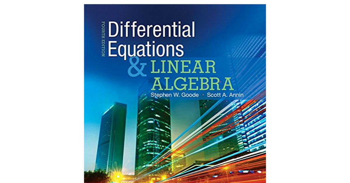 Y259ok download pdf differential equations and linear algebra book download pdf differential equations and linear algebra 4th edition by stephen w goode scott a annin google docs fandeluxe Image collections