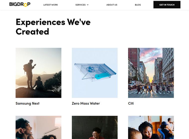 site oficial da agência bigdrop