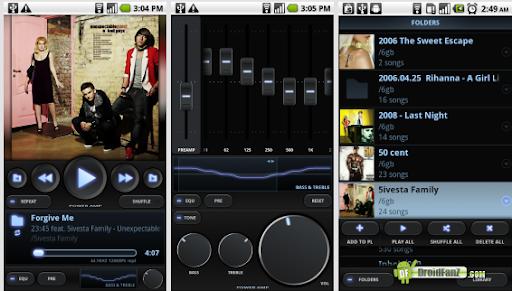 aplikasi pemutar musik untuk android - PowerAMP Music Player for android