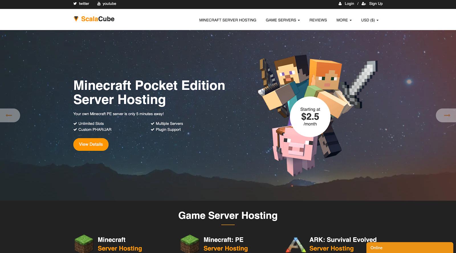 Services d'hébergement Minecraft les moins chers en 2020 4