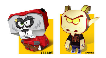 Veeboy Paper Toy Epicureo Paper Toy