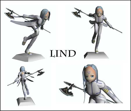 Oh My Goddess Papercraft Lind