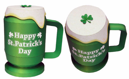 St. Patrick's Day Beer Mug Papercraft Box