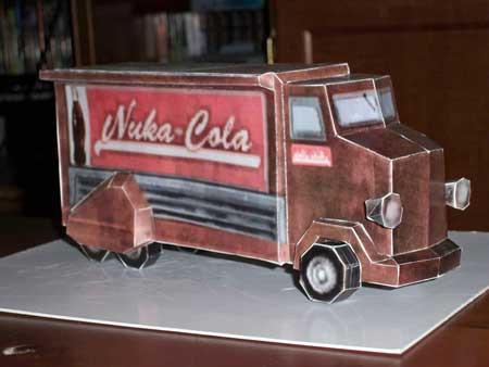 Fallout New Vegas Nuka Cola Truck Papercraft
