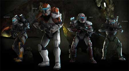 Star Wars: Republic Commando Papercraft Delta Squad
