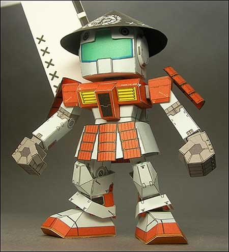 SD Ashigaru RGM79 GM Gundam Papercraft