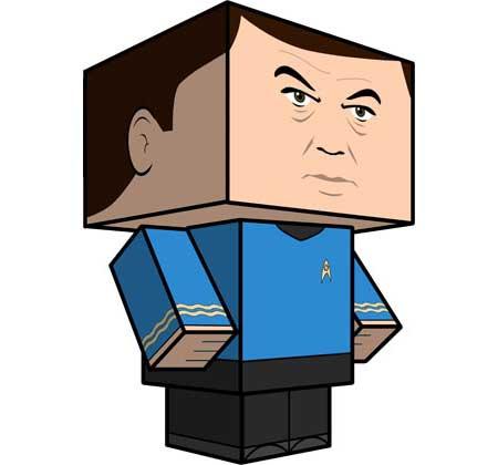 Star Trek Leonard Bones McCoy Papercraft