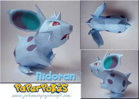 Pokemon Nidoran Papercraft