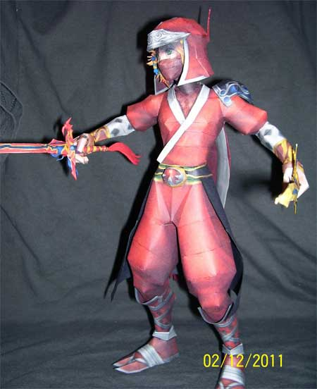 Onion Knight EX Mode Ninja Papercraft