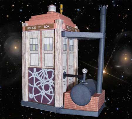 Doctor Who Steampunk Tardis Papercraft