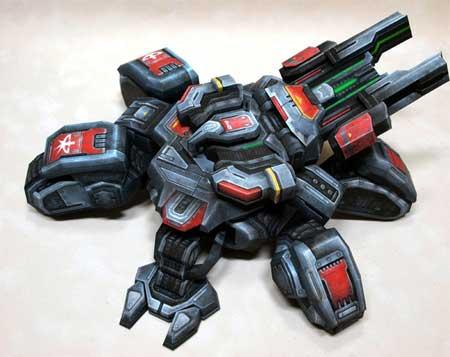 StarCraft 2 - Siege Tank Papercraft