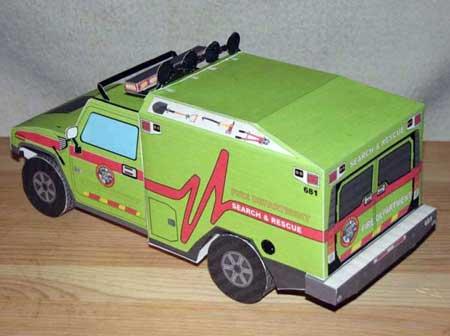 Transformers Ratchet Papercraft Vehicle Mode