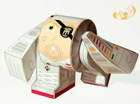 Yebot Paper Toy P-Chef