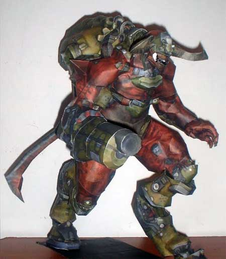 Doom 3 Cyberdemon Papercraft