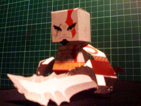 Kratos Paper Toy Contender Version
