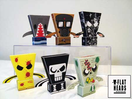 Flat Heads Paper Toy Series 1