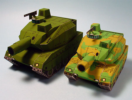 SD Type 10 Battle Tank Papercraft