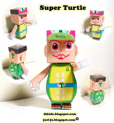 Super Turtle Dumpy Paper Toy