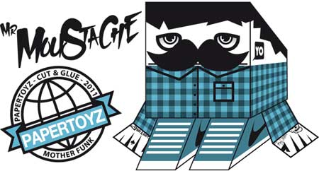 Mr. Moustache Paper Toy