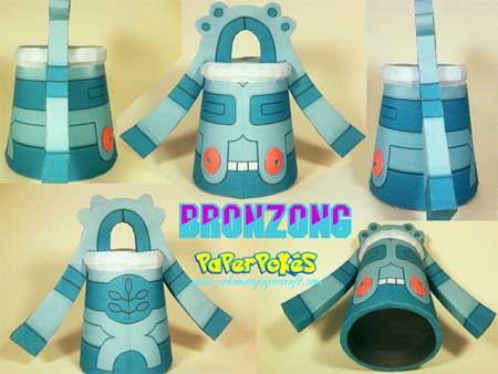 Pokemon Bronzong Papercraft