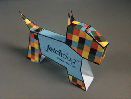 Fetch Dog Paper Toy