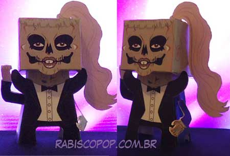 Lady Gaga Skull Face Papercraft