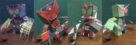 Kamen Rider Paper Toy
