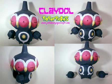 Pokemon Claydol Papercraft