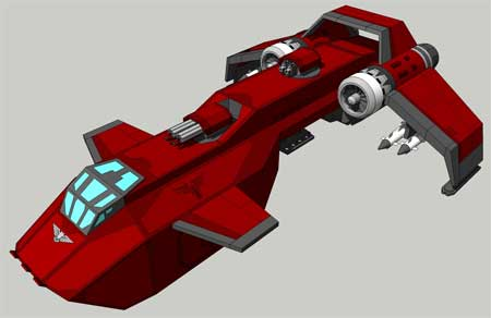 Warhammer 40K Stormraven Gunship Papercraft