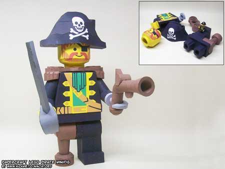 LEGO Papercraft Captain Redbeard