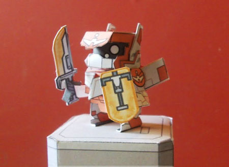Cradle Unit Hitodama Paper Toy