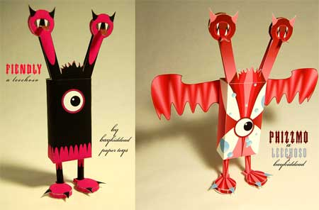 Leechoso Paper Toy Fiendly & Phizzmo