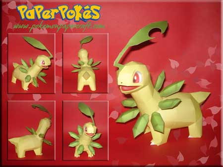 Pokemon Bayleef Papercraft