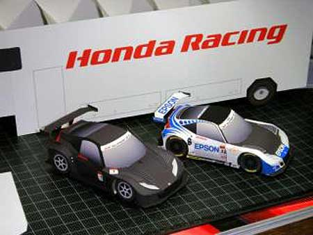 2011 Honda HSV-010 GT Papercraft