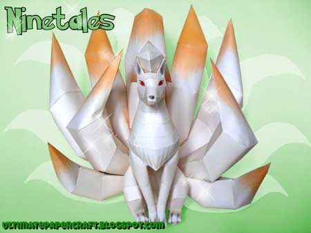 Pokemon Ninetales Papercraft