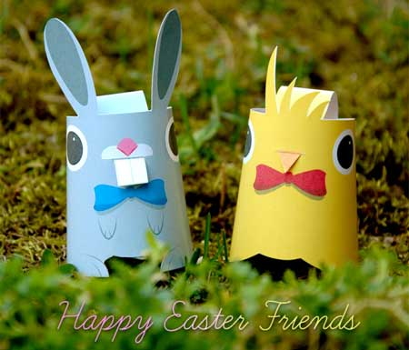 Happy Easter Friends Papercraft