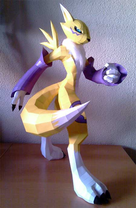 Digimon Renamon Papercraft