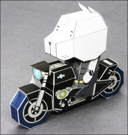 Bulldog FXD2 Motorcycle Papercraft