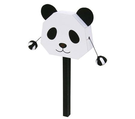 Panda Pellet Drum Papercraft