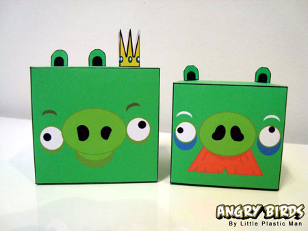 Angry Birds Paper Toy - King Pig Moustache Pig
