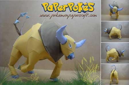 Pokemon Tauros Papercraft