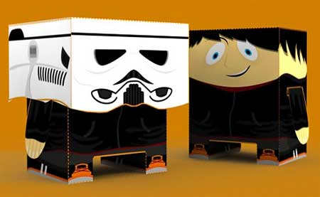 Caesario Minibox Paper Toy Star Wars Fan