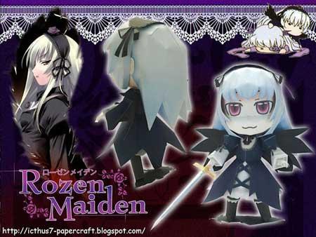 Rozen Maiden Papercraft Chibi Suigintou