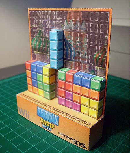 Tetris Party Deluxe Papercraft