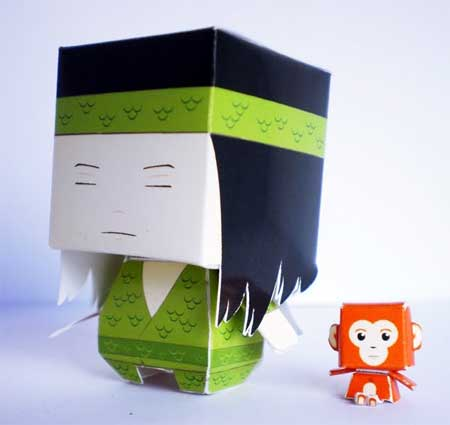 Blind Man From Ghost Cave Paper Toy Si Buta dari Gua Hantu