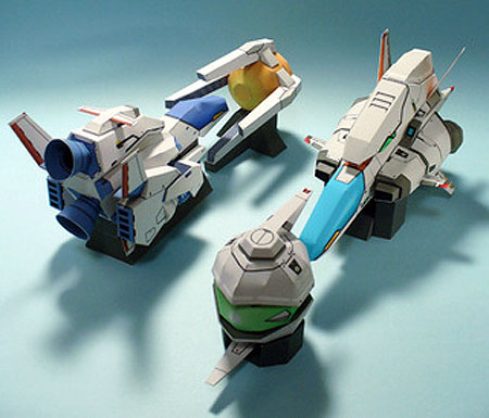 R-Type Papercraft Set and Shadow Force Unit