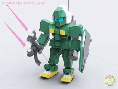 Gundam Papercraft Mini GM Striker