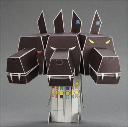 Mobile Suit Wandam Cerberus Papercraft