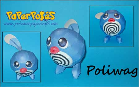 Pokemon Poliwag Papercraft